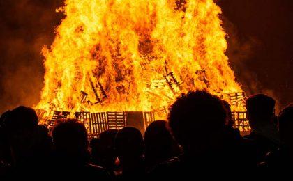 Bonfire Night vreugdevuren in Engeland