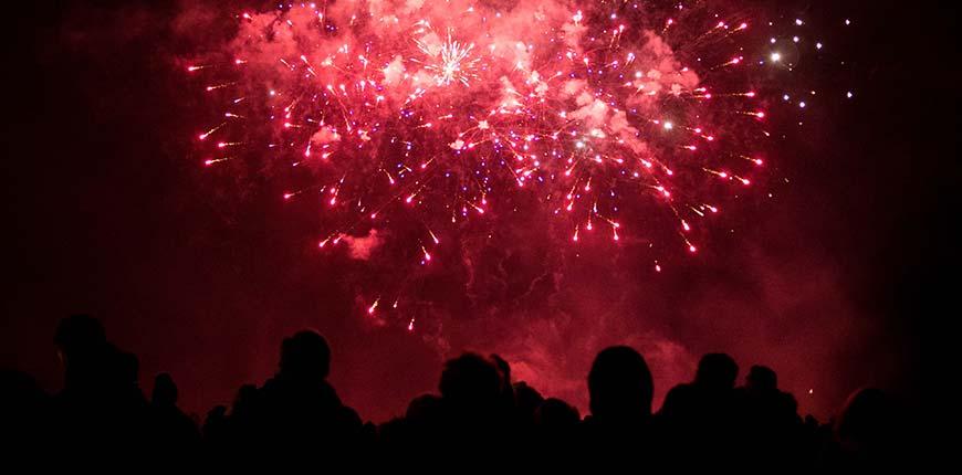 Bonfire Night vuurwerk in Engeland