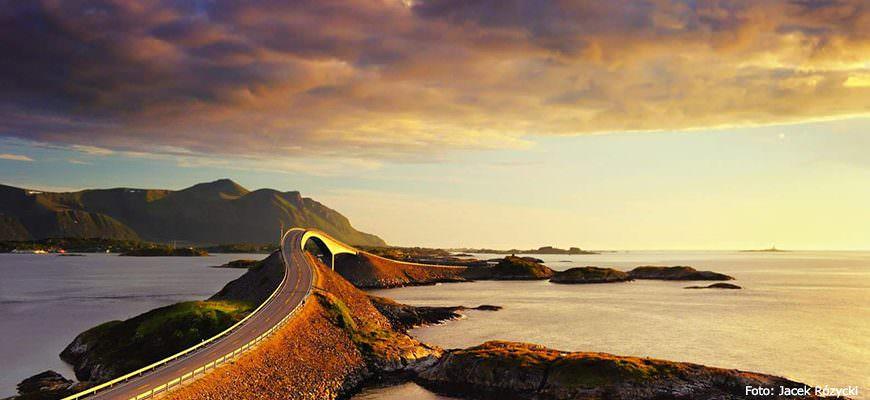 Atlantische Snelweg in Noorwegen. Foto Jacek Rózycki