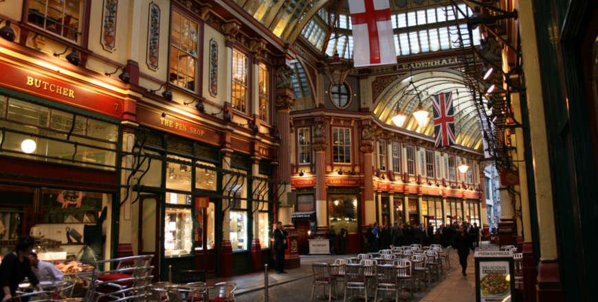 Leadenhall Market in Londen