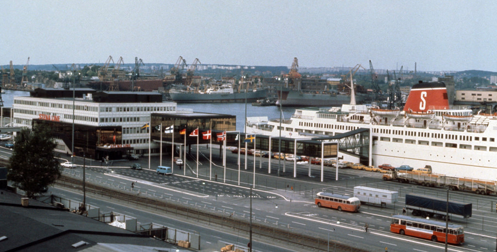 Stena Line terminal in 1972