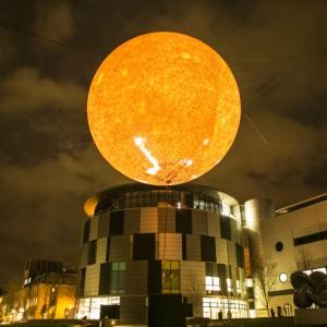 Solar Equation, Rafael Lozano Hemmer, Lumiere Durham 2013, produced in Durham by Artichoke ©MatthewAndrews2013-klein