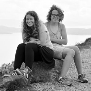Moeder en dochter op het eiland Skye.