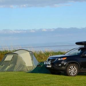 De camping op het Schotse eiland Arran.