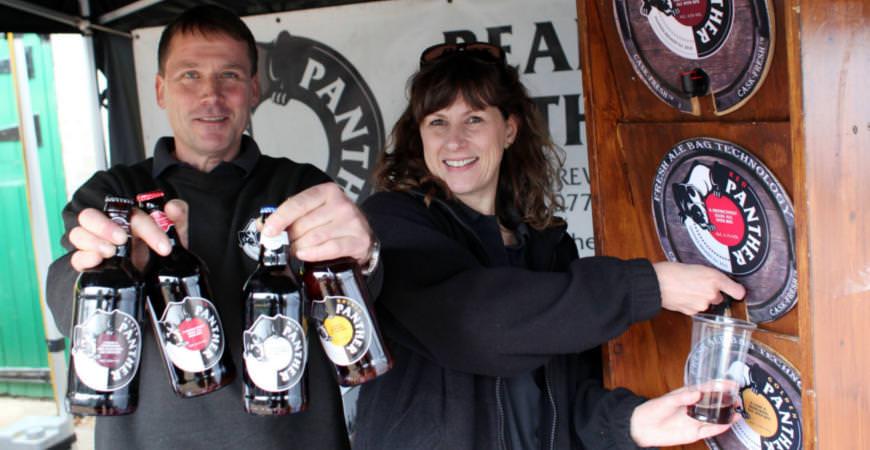 Panther Brewery tijdens het Norfolk Food and Drink festival