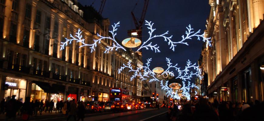 Regent Street tijdens het kerstshoppen Londen 2015