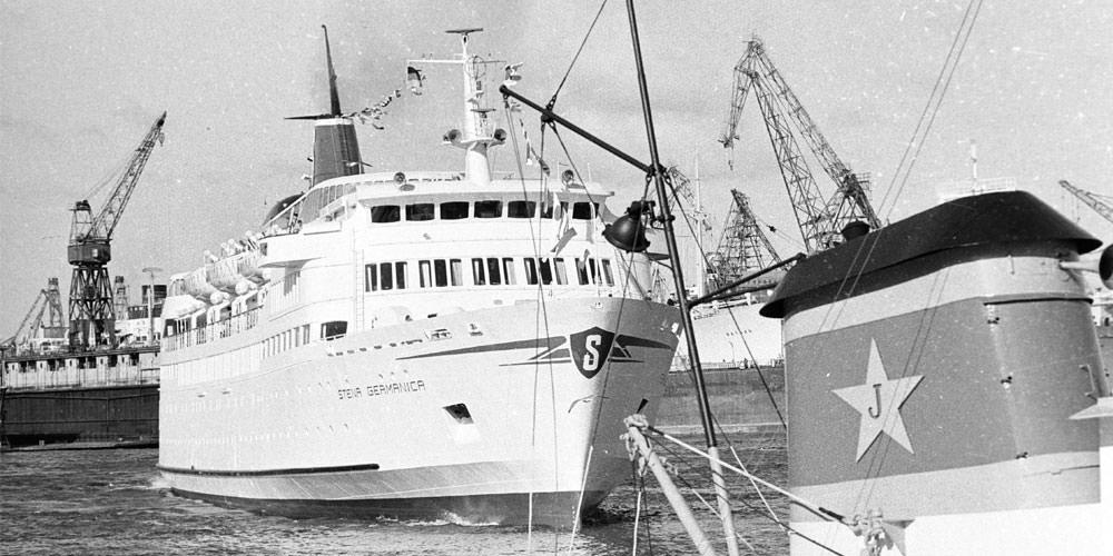 Stena Germanica in de haven in 1968.