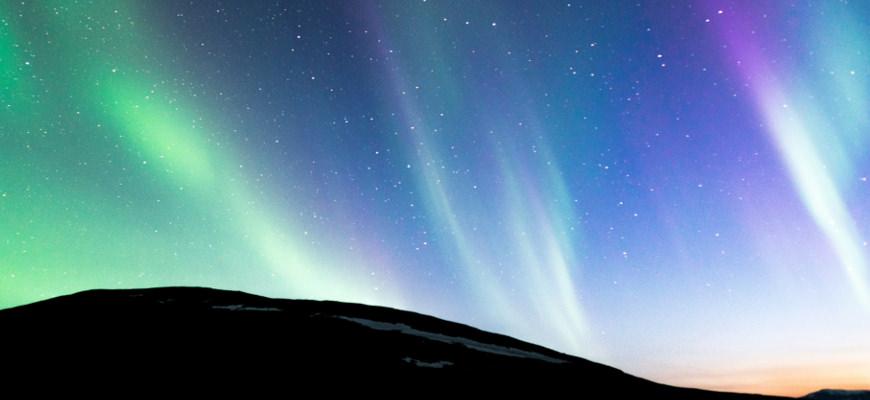 Noorderlicht in Zweden. Foto: Hjalmar Andersson/imagebank.sweden.se