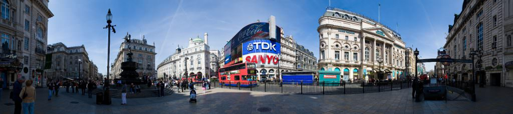 Piccadilly Circus in Londen. Photo by DAVID ILIFF. License: CC-BY-SA 3.0