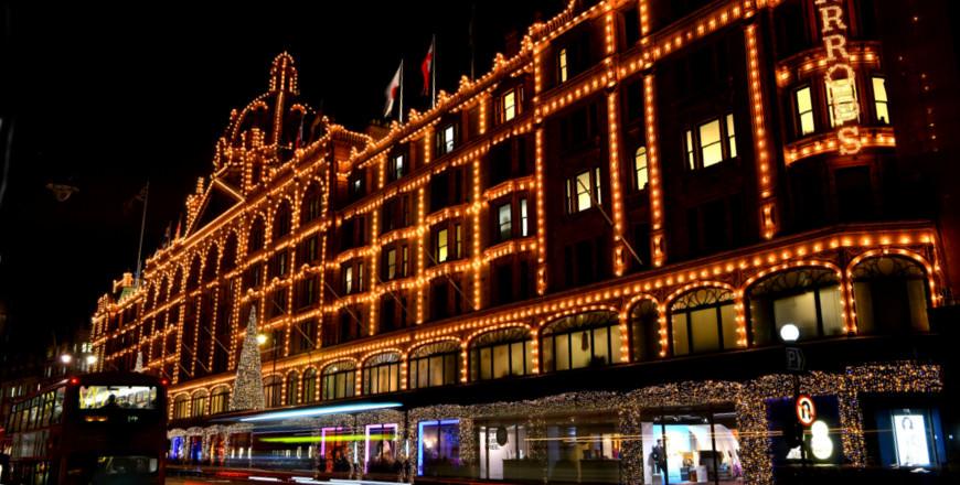 Kerstshoppen in Londen: Harrods in kerstsfeer! Credit: Grant Pritchard