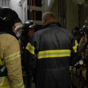 Stena Hollandica oefening – overleg brandweerteam