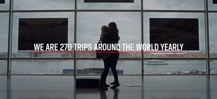 We are 270 trips around the world yearly. We are Stena Line.