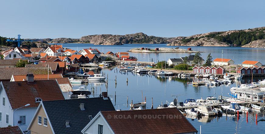 Uitzicht over Fjällbacka