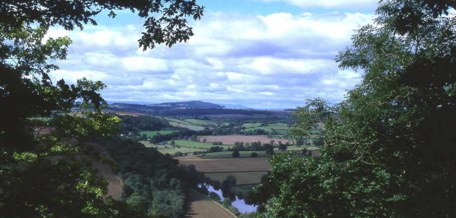 Wye Valley, een van de Areas of outstanding natural beauty in het Verenigd Koninkrijk