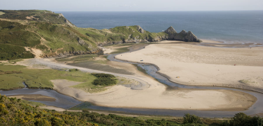 Gower Peninsula, een van de Areas of outstanding natural beauty in het Verenigd Koninkrijk