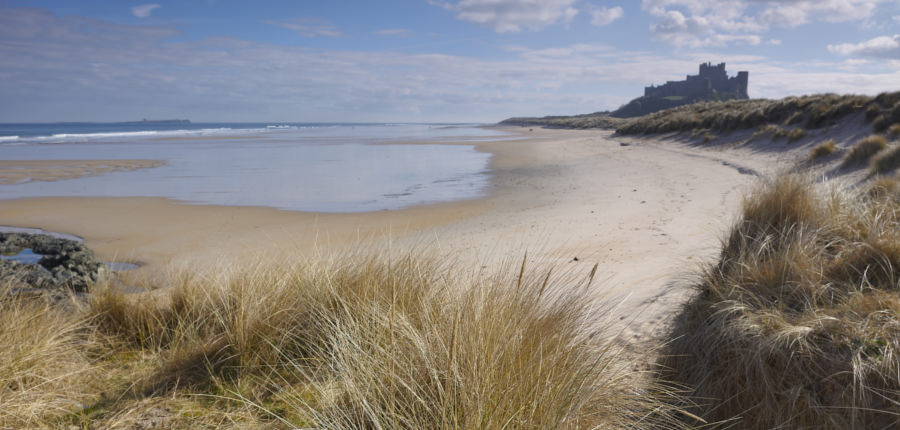Bamburgh, een van de Areas of outstanding natural beauty in het Verenigd Koninkrijk