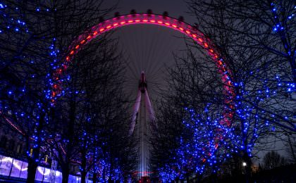 London Eye in kerstsfeer