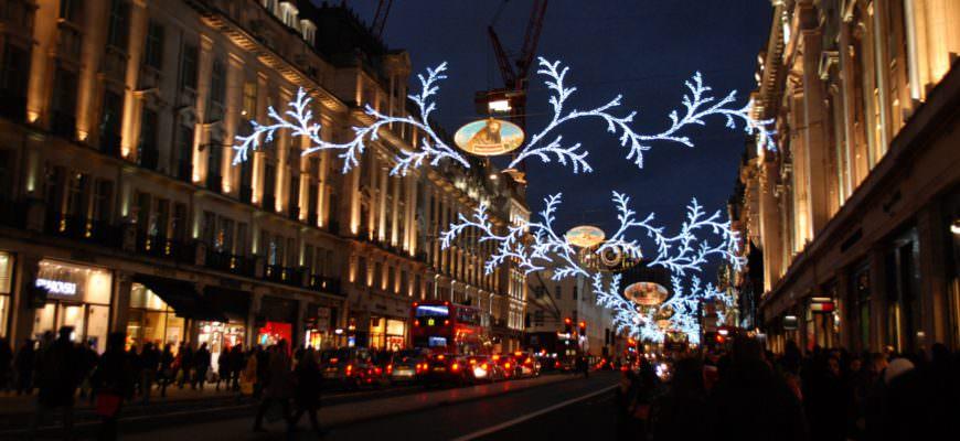 Kerstshoppen in Londen