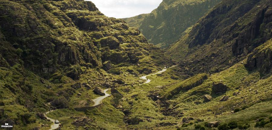 Gap of Dunloe bergpas in Ierland