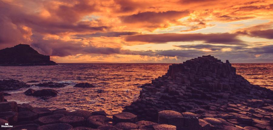 Giant's Causeway, langs de Causeway Coastal Route in Noord-Ierland