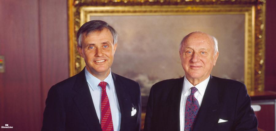 Dan Sten Olsson en zijn vader en Stena Line oprichter Sten Allan Olsson