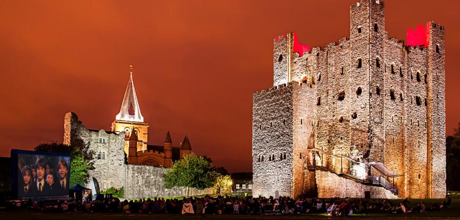 Harry Potter kijken bij Rochester Castle