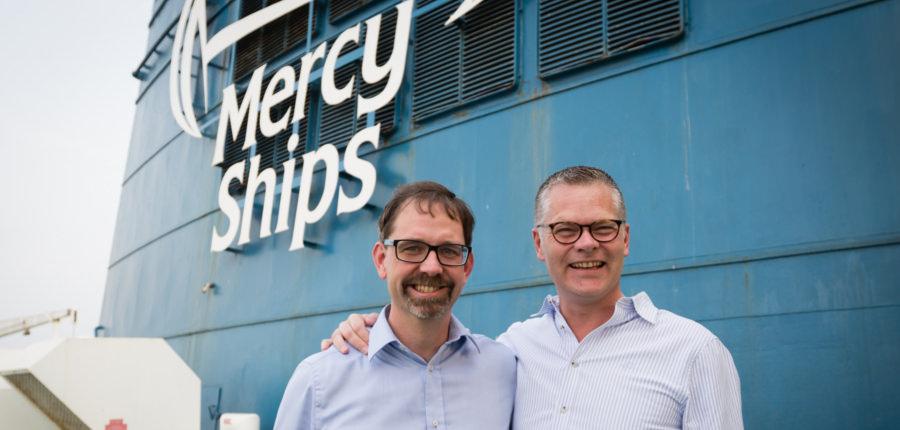 Pascal Andréasson van Mercy Ships en Niclas Mårtensson van Stena Line