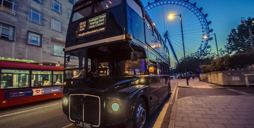 The Ghost bus Tour in Londen