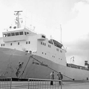 Stena trailerschip in Kiel mei 1978. Foto Rickard Sahlsten