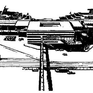 Impressie tekening Stena Line's Masthuggs terminal