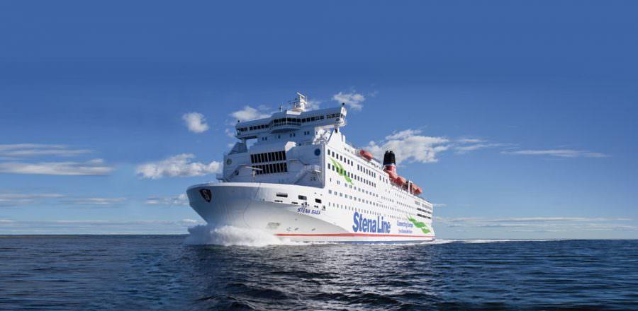 Stena Saga op zee