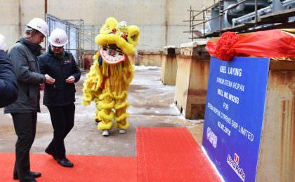 Kielleggingsceremonie nieuwe schepen Stena Line