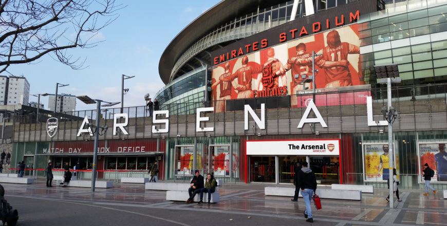 Emirates Stadium van Arsenal in Londen
