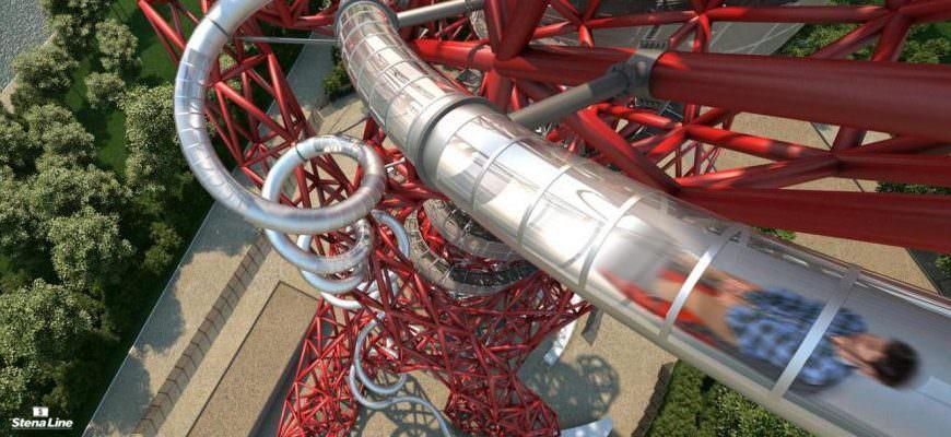 Langste glijbaan ter wereld Londen
