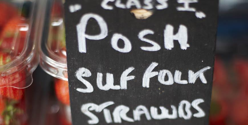Aardbeien uit Suffolk