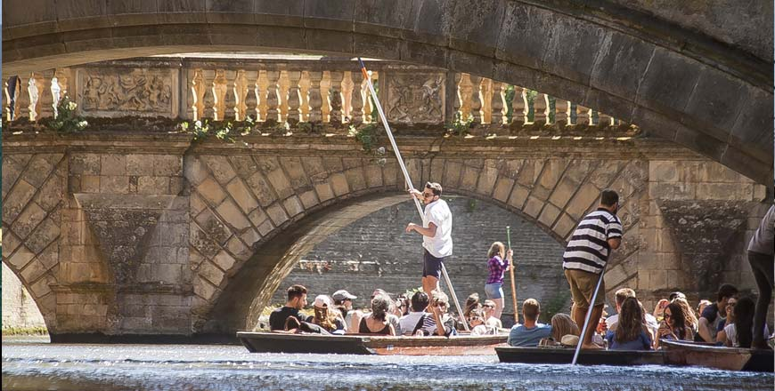 Punt boot in Cambridge