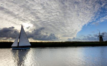 The Broads in Norfolk, East Anglia