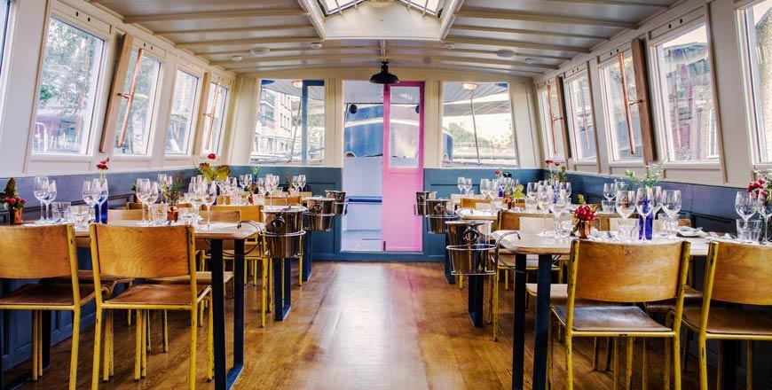 Shell en Co Londen - dineren tijdens het varen