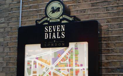 Seven Dials Londen. Foto Stefan van Beek