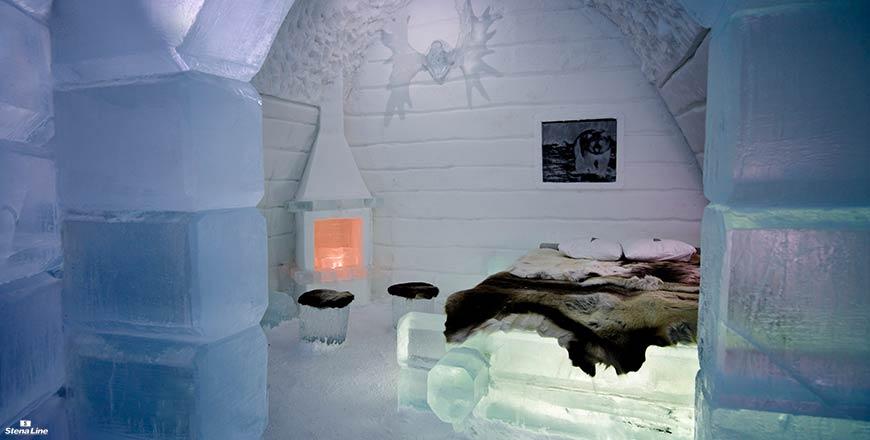 Kamer in IJshotel Zweden