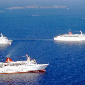 De in Joegoslavië gebouwde ferry's