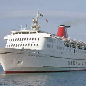 Stena Jutlandica op zee in 1973
