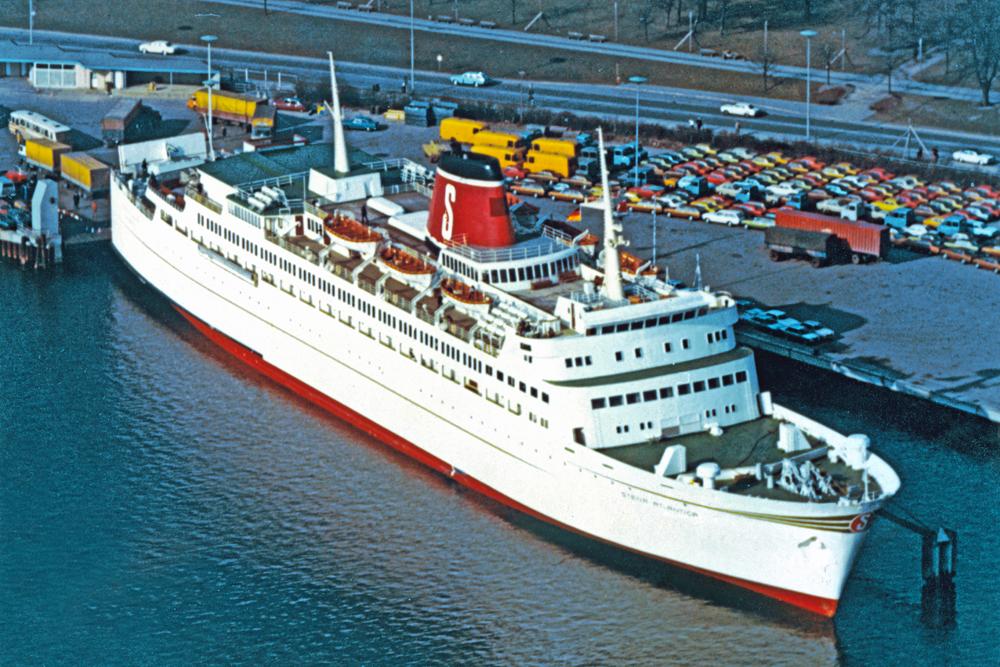 Stena Atlantica in Kiel zomer 1972