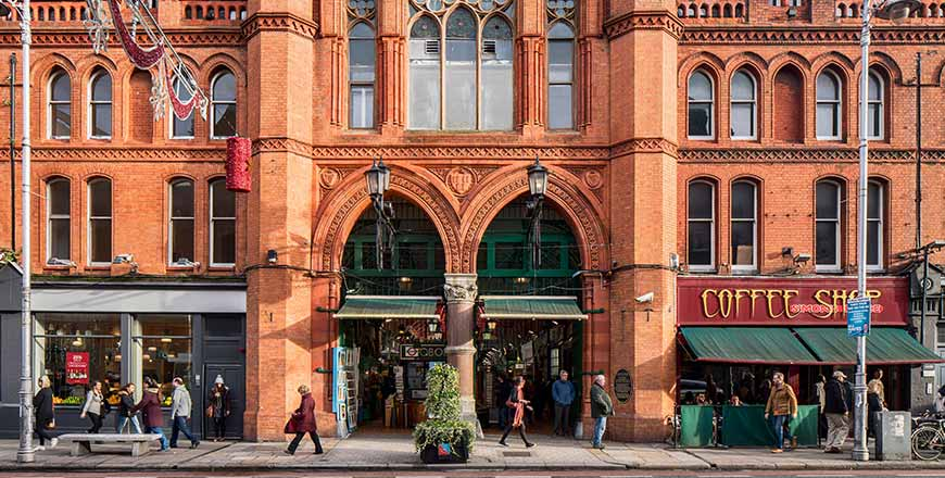 George's Street Arcade gevel in Dublin