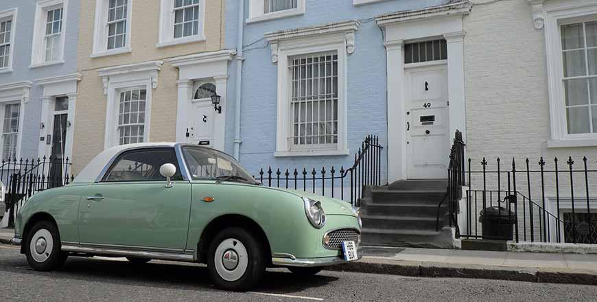 Notting Hill in Londen met oldtimer