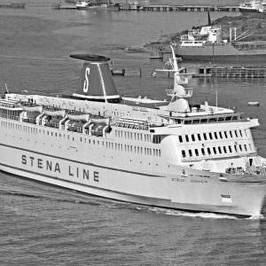 Stena Danica te Göteborg in juni 1976