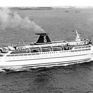 Stena Danica op zee bij levering
