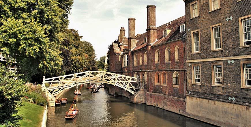 Mathematische brug in Cambridge