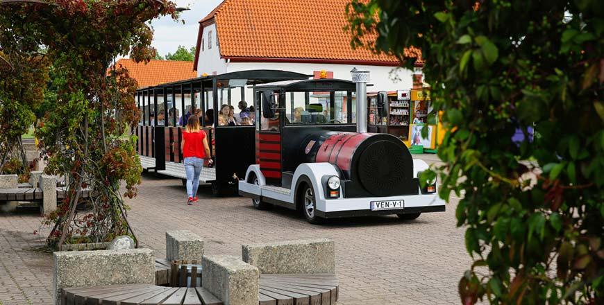 Treintje voor de Ventspils City Tour