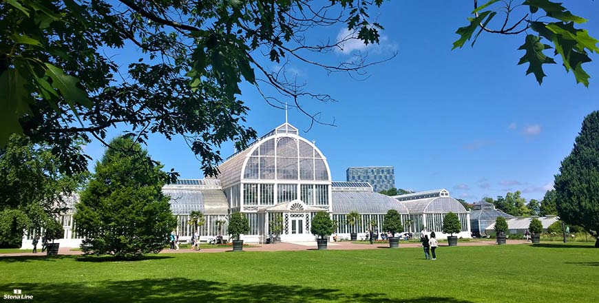 Trädgårdsföreningen park in centrum Göteborg